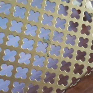 None Wall Art - Mid Century Brass Quatrafoil Wall Shelf